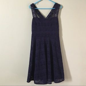 Anthropologie stretchy lace overlay dress